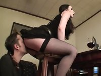 Licking Her Ass: He felt that she was wet and realized that she is excited with that is going to happen!