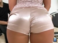 Cum on Kenzie: She had on tight shorts that accentuated her beautiful ass and a revealing top that wrapped around her perfect perky tits.