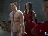 January Seraph: Lucky slave is completely used as a tool for sex and pleasure and has his cum milked from his loins..