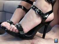 Ass Needs Licking: which sounds easy enough for a slave except that Vanessa like to nonchalantly press her heels into his chest while he does so.