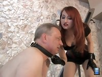 Cry for Her Whip: Mistress Kendra has decided to break her slave today. She is going to whip him until he breaks.