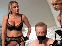 Fuck his Face: Brianna takes the slut's ass, fucking him long and hard with her strap on cock.