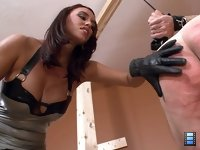 Sadistic Bitch: Mistress Megan is shockingly cruel. She takes great pleasure in beating men.