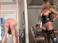 Caning for Training: Brianna lays in hard and heavy with her cane. Blistering the slut's aching ass with fast and furious strokes.