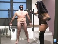 Kinky Nun: Watch him pays for cheating his wife with a hot dominant Miss Dolce!
