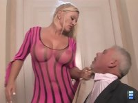 Face Fucked Hubby: Charity takes great pleasure in the control she has over this male bitch. Total female supremacy!
