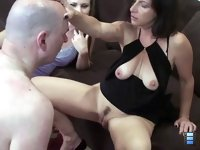 Mom Learns To Dominate: He performs his best, but with two ladies two please it will be very hard to avoid pain.