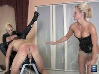 Caned Pussy Licker: Holly knows that Skyla gets all wet when she sees bitches being caned..