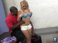 Lexi Kartel: The boyfriend is about to score when he's busted by the undercover cop. Huge muscle black guy..
