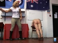 Brutal Boots: Raising one leg, Kate dug her sharp heels into his back, making him bow even lower. She watched with great pleasure as slaves face distorted with pain when she intensifies the pressure.