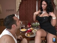 Cruel Games: Mistress Bella Reese has been starving her slave for days. She has just given him the choice to enjoy a lavish meal or her amazing ass.