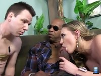 Kagney Linn Karter: The cuckold's self-respect disappears as fast as Shane's black cock inside Kagney's reproductive system.