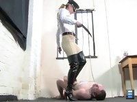 Belted And Booted: Moreover, he knows very well that any resistance to her deisres will be punished severely and mercilessly. What he would have done, he will be penalized in most painful and humiliating way. She loves to torture.