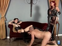 Tears On My Pussy: Goddess Amadahy has a task for her slave bitch - to make Mistress Tristan cum. And if he does not do so, his balls are going to pay the price!