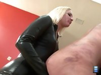 Sadistic Bitch Whipping: Miss Coral is a sadistic bitch. She enjoys whipping male bitches and watching them suffer. Today, she has a new slut strapped to a cross.