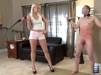 Good Slaves Take Pain: Look me in the eyes when I torture you! Vanessa gets a thrill seeing the fear in his eyes while he struggles to endure for her.